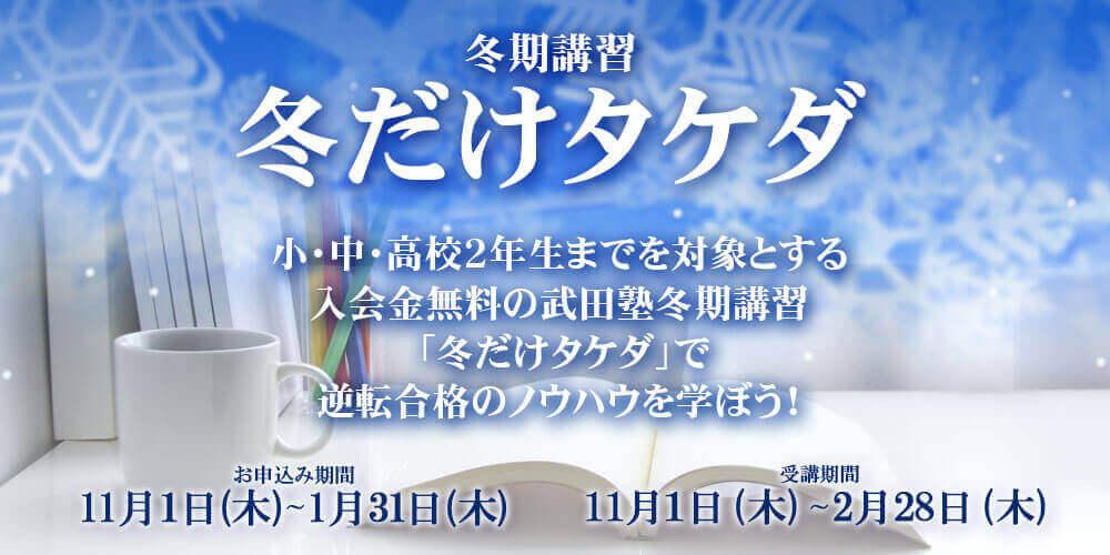 冬だけタケダ2017