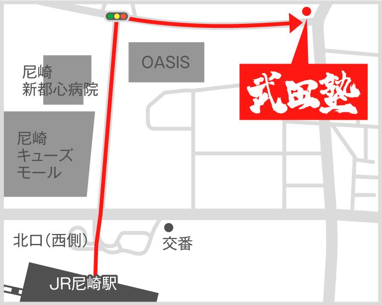 尼崎校地図