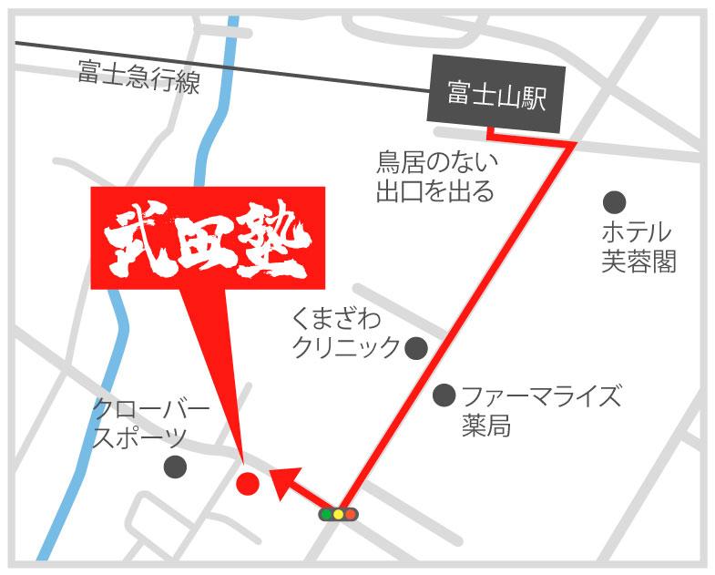 富士吉田校地図