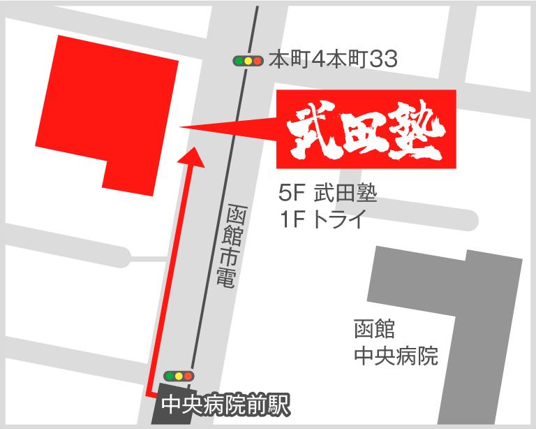 函館校地図