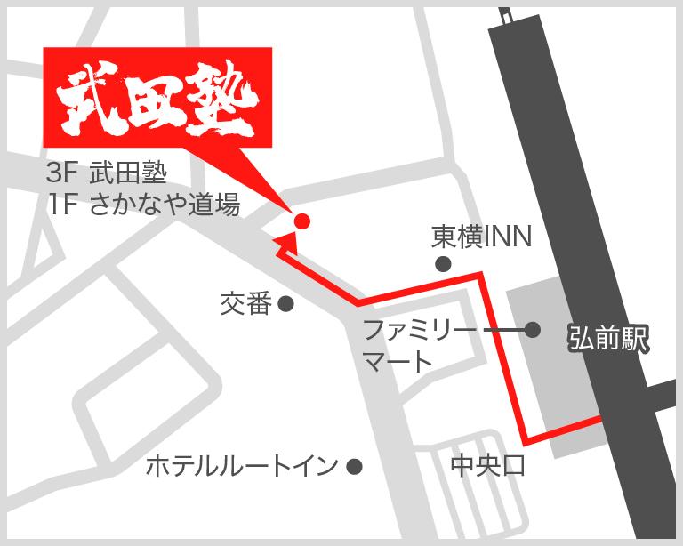 弘前校地図