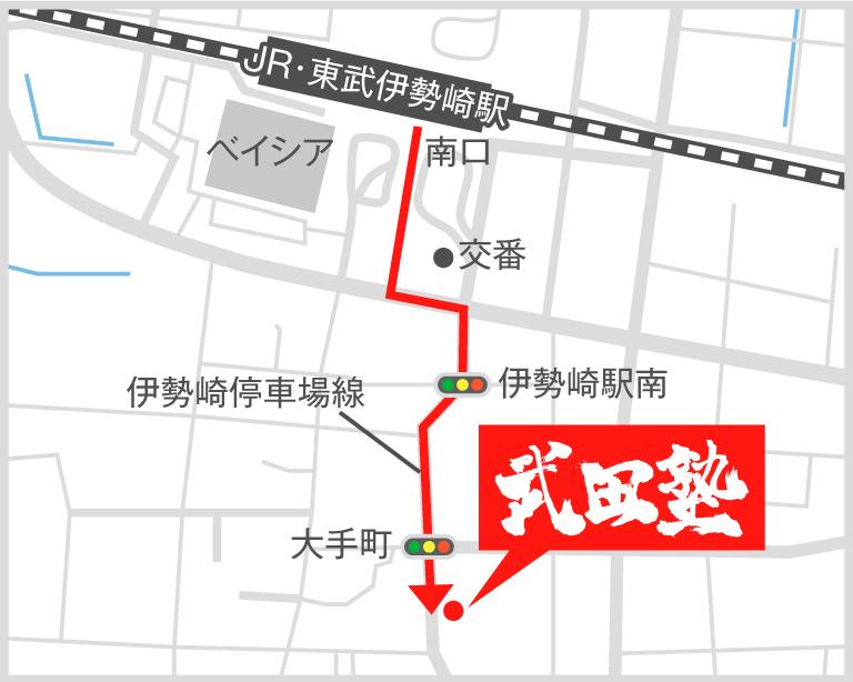 伊勢崎校地図