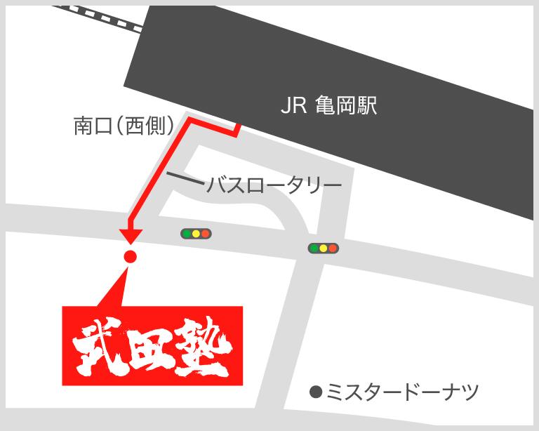 亀岡校地図