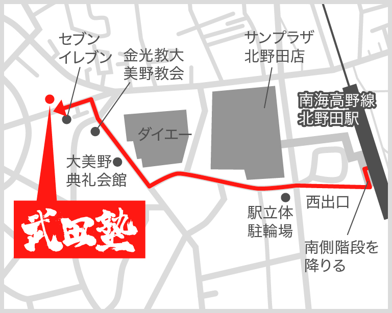 北野田校地図