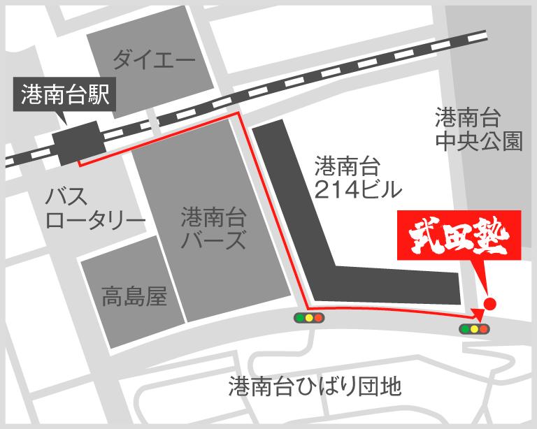 港南台校地図