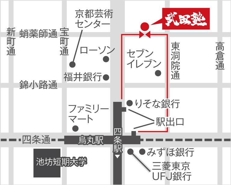 京都校地図