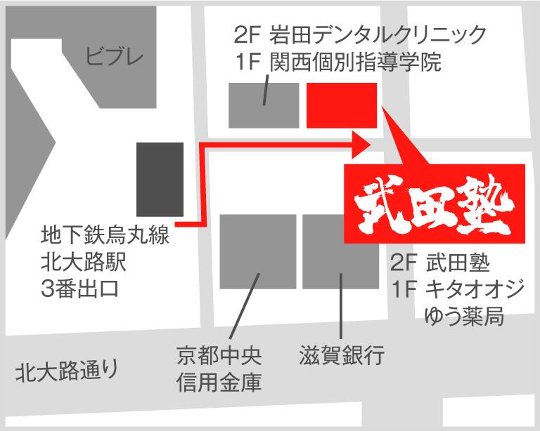 京都北大路校地図