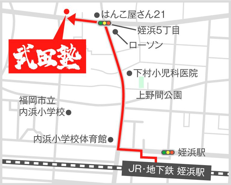 姪浜校地図