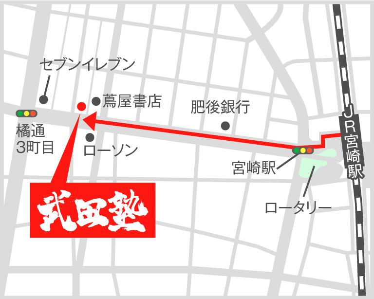 宮崎校地図