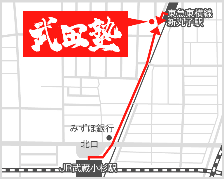 武蔵小杉校地図