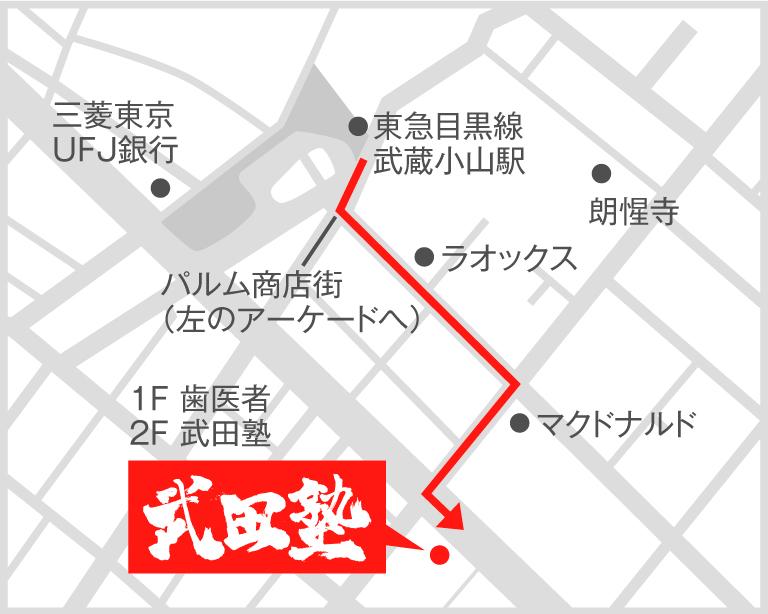 武蔵小山校地図