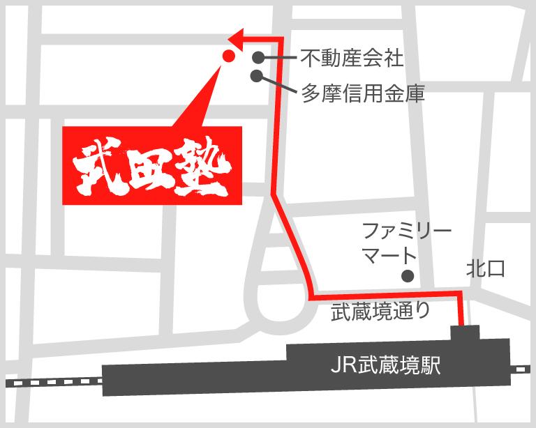 武蔵境校地図
