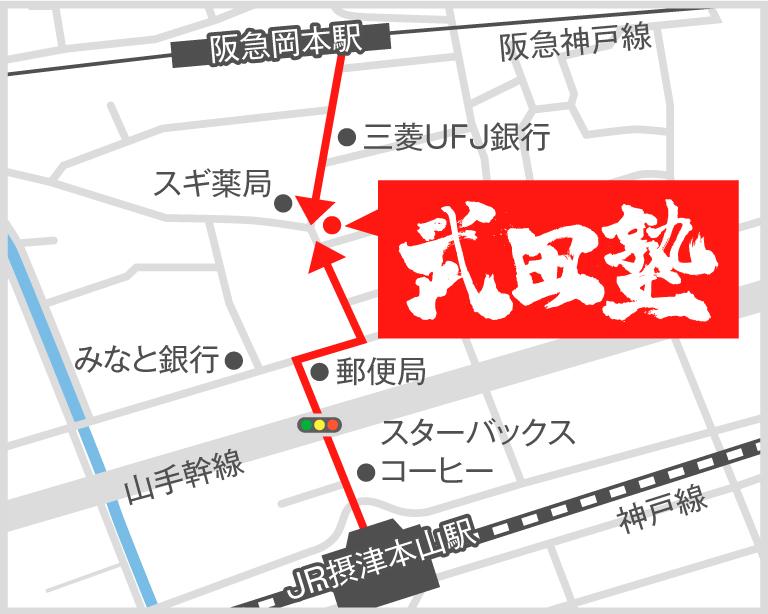岡本校地図
