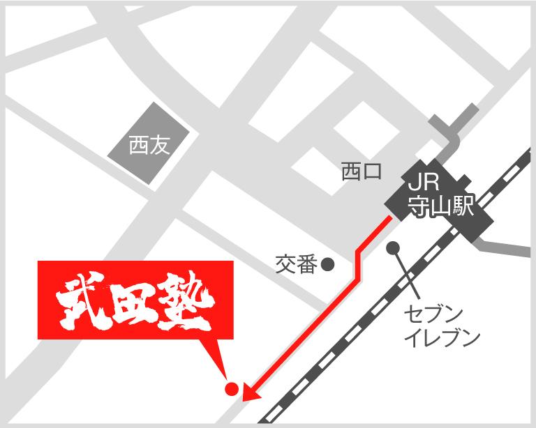 滋賀守山校地図
