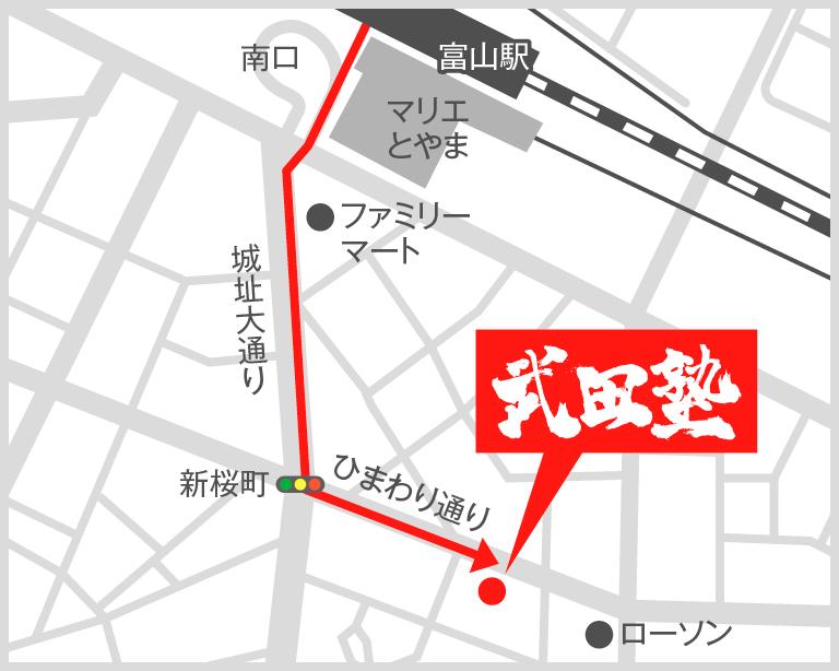 富山校地図