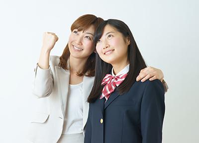 大学受験生の生徒と先生