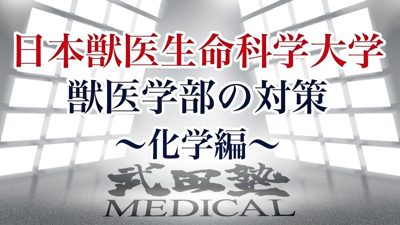 【医学部受験対策!!】日本獣医生命科学大学獣医学部の対策〜化学編〜