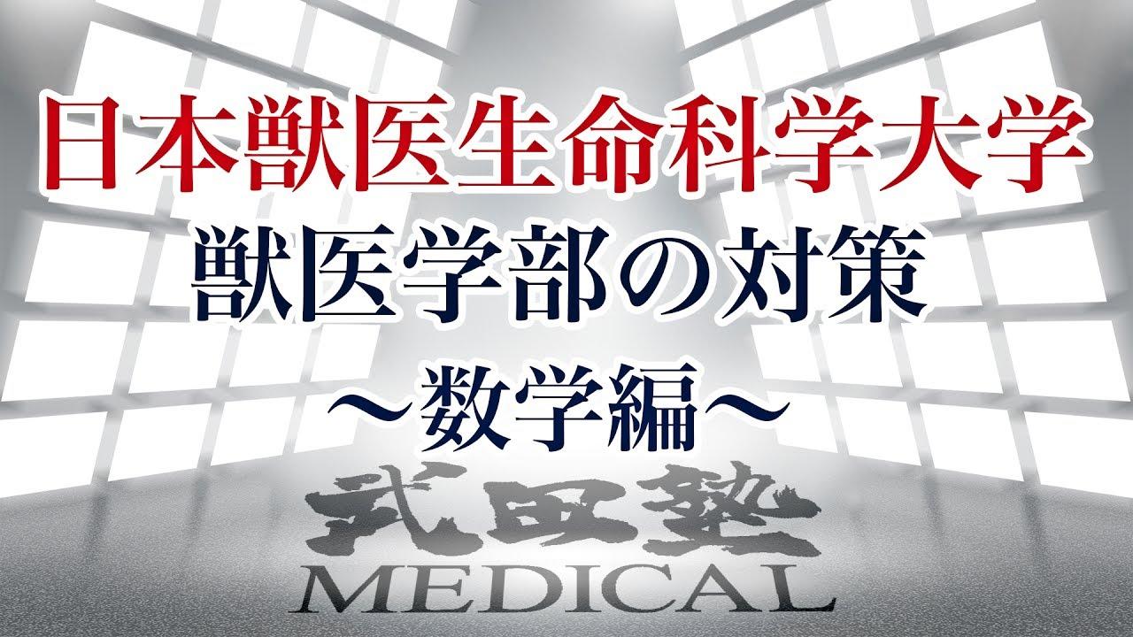 【医学部受験対策!!】日本獣医生命科学大学獣医学部の対策〜数学編〜
