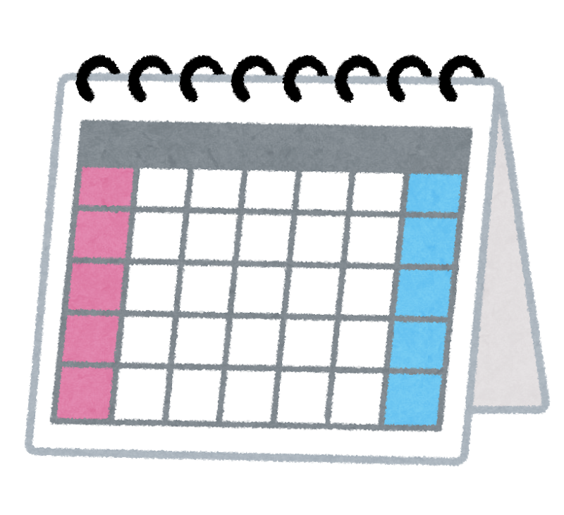 カレンダー フリー画像