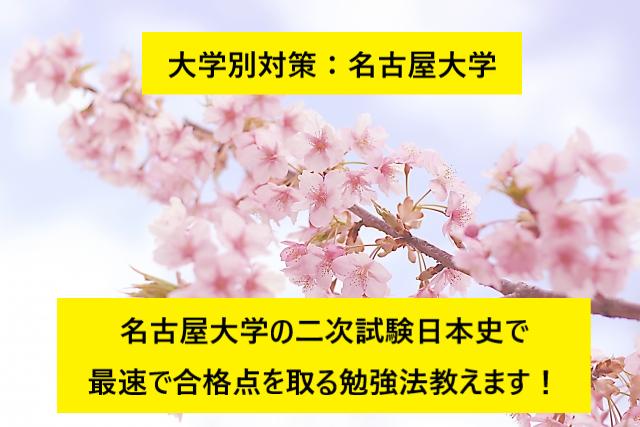 20190315(金)_ブログ画像(名古屋大学二次試験日本史対策 勉強方法)