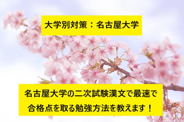 20190309(土)_ブログ画像(名古屋大学二次試験漢文対策 勉強方法)