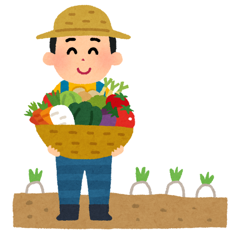 農業をする男性のイラスト