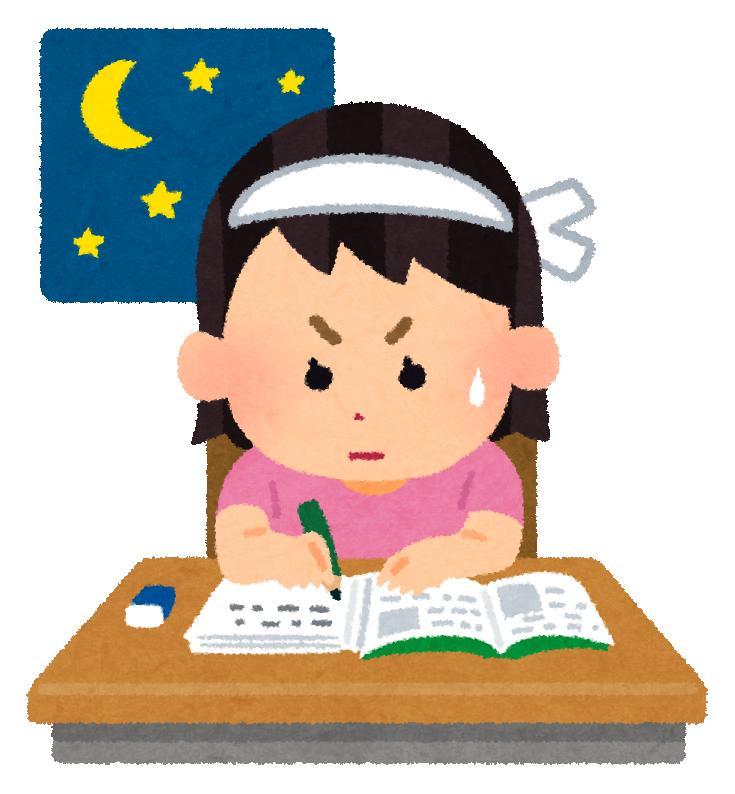 一生懸命勉強する受験生のイメージ