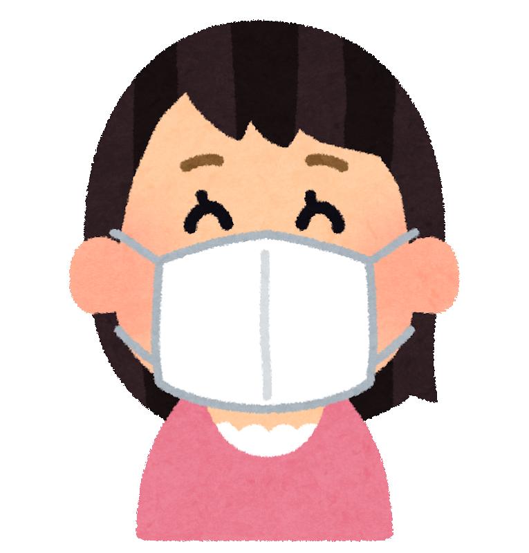 マスクをする人イラスト_武田塾王寺校