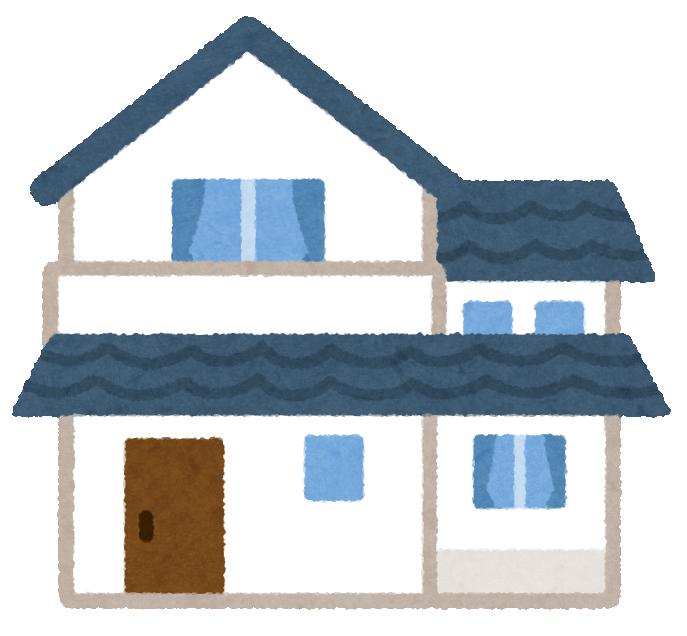 家青い屋根