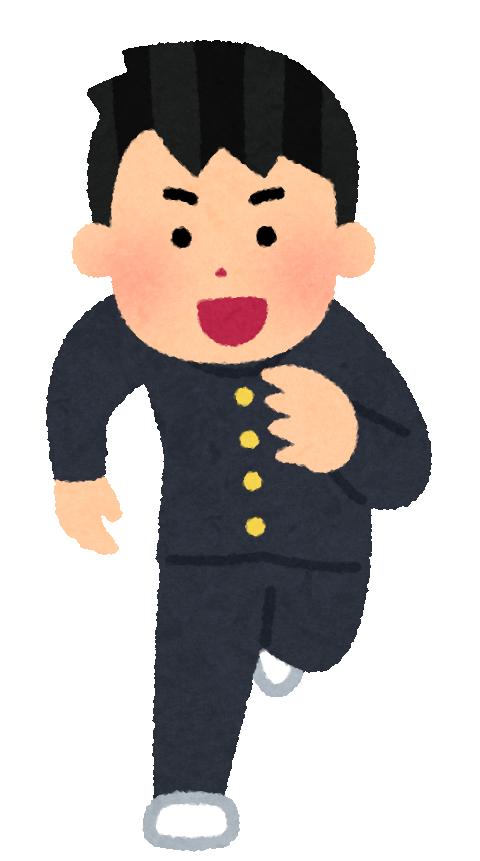 走る男子高校生2