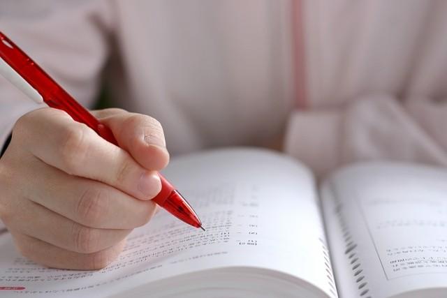 勉強する手元(勉強は量より質が大切)