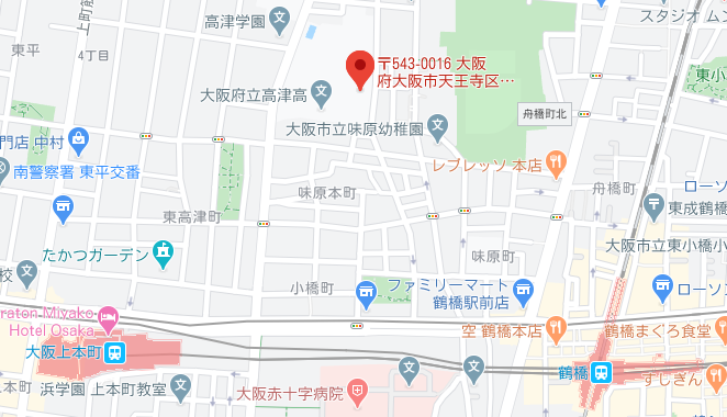 高津高校地図