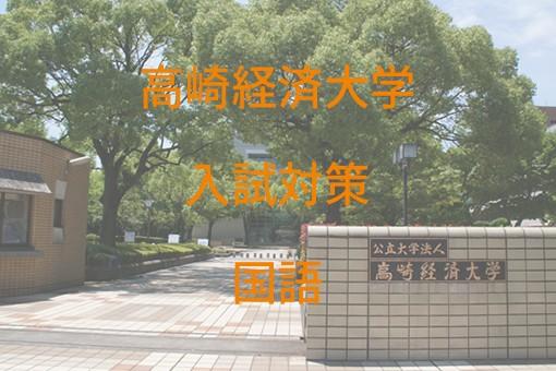 高崎経済大学入試対策国語