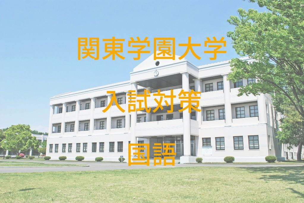 関東学園大学入試対策国語