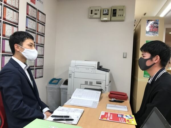 ●武田塾秋田校の生徒面談の様子5(高3Sくん)