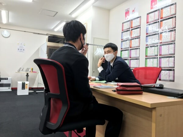 ●武田塾秋田校の生徒面談の様子6(高3Sくん)