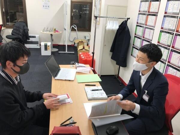 ●武田塾秋田校の生徒面談の様子14(高3Sくん)