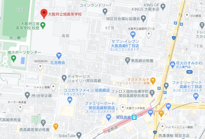 旭高校地図