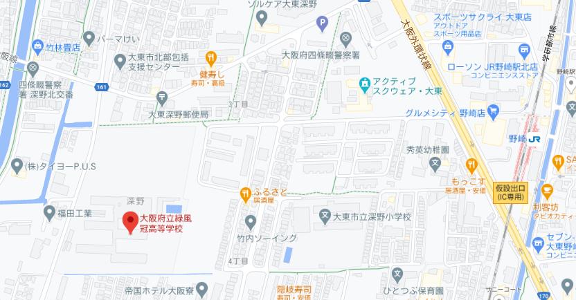 緑風冠地図
