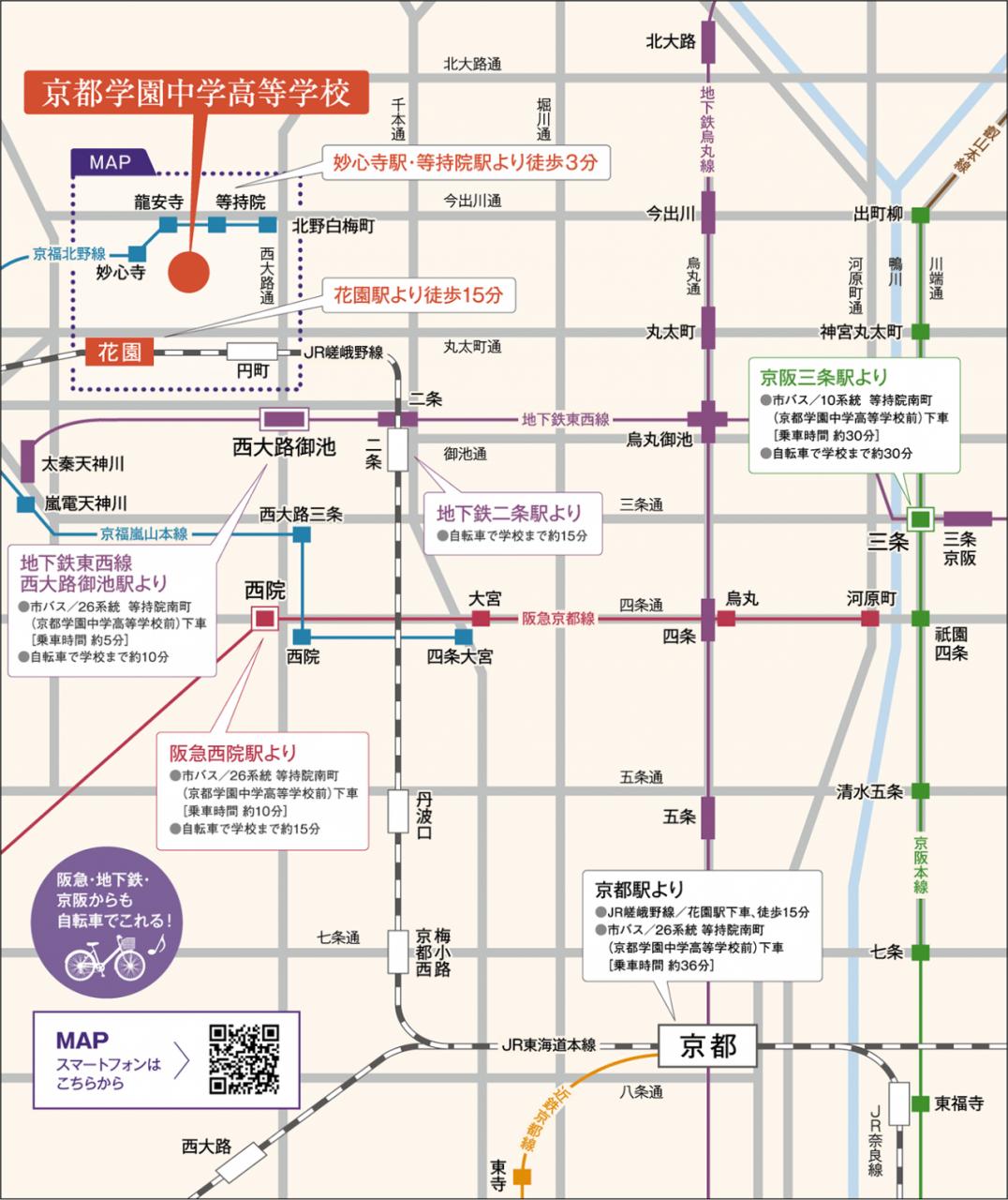 京都学園マップ