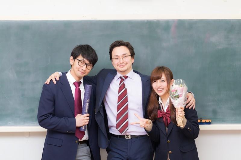 先生と生徒 卒業
