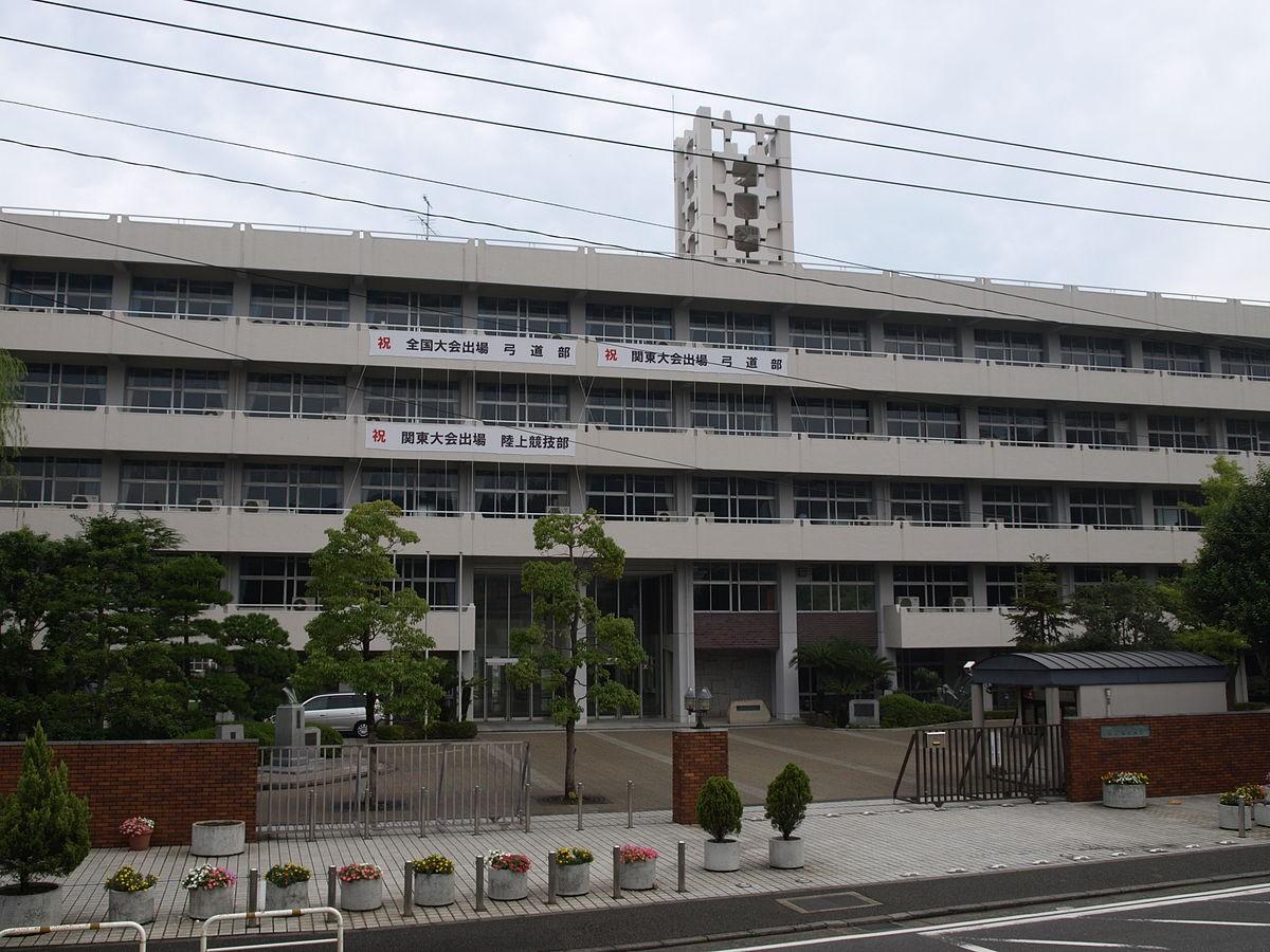 川崎北高校 校門前 写真