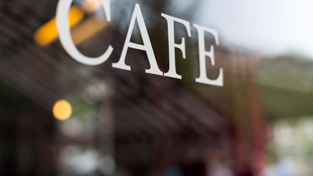 CAFEのガラス