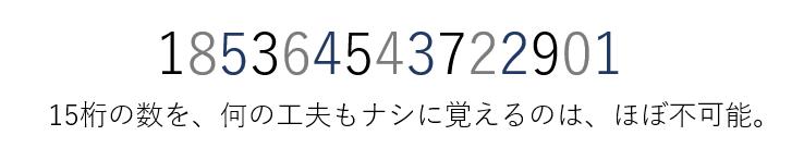15桁の数