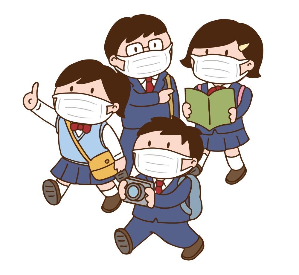 オープンキャンパスに参加する高校生
