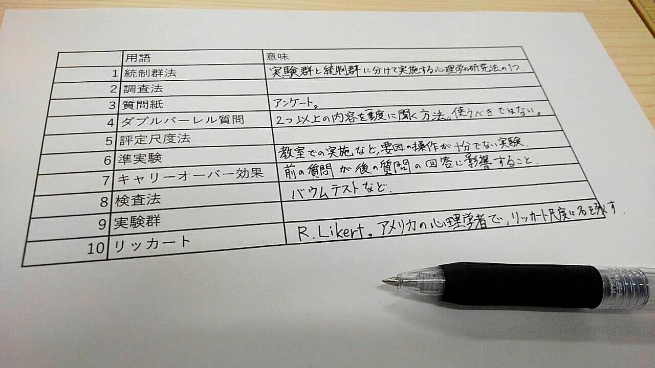 心理学テスト