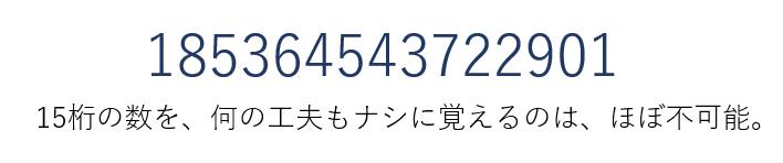 15桁の数(全青)