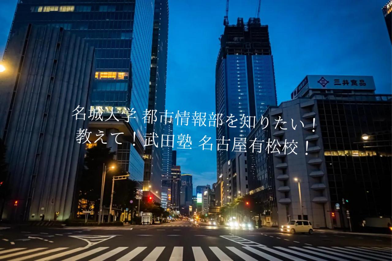 名城大学 都市情報部を知りたい! 教えて!武田塾 名古屋有松校!